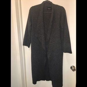 Zara Grey Knit / Sweatshirt Long Jacket